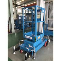 Wholesale Single Mast Lift With 630 * 650mm Platform , Aluminium Alloy Hydraulic Cargo Lift from china suppliers