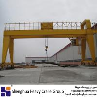 China rail mounted double girder gantry crane 20 ton 30 ton 50 ton price with ISO certificate for sale