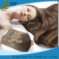 Buy cheap Grade 8A / 9A 100% Virgin Ladys Hair Extensions Double Pull Remy Hair Clips from wholesalers