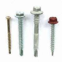 Wholesale Hexagonal Washer Head Self Drill Screw with Rubber Washer, Made of Steel from china suppliers