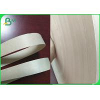 China FDA & FSC 60gsm Unbleached Kraft Paper 15mm Roll For Paper Straws Making for sale