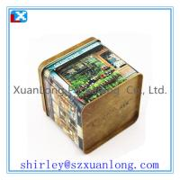Wholesale 4c printing Coffee Tin Box in Square Shape from china suppliers
