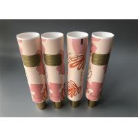 China Full Screen Matt Coating Lotion Tube Packaging , Golden High Cap Cosmetic Soft Tube for sale