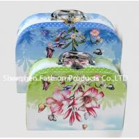 China Light Weight Embossed UV Surface Treatment Cardboard Suitcase Box for sale