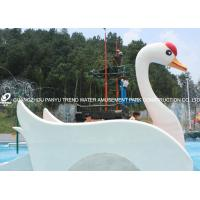 Customized Fiberglass Small Water Pool Slides Designed For Water Park Games