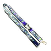 Wholesale Heat Transferred Screen Printed Lanyards Purple Grounding For Sports Competition Event from china suppliers