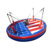 Wholesale Interactive Outdoor Inflatable Games , Safety Funny Bungee Bull For Team Building from china suppliers