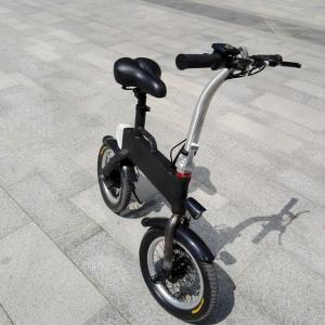 CE FCC Certification 36v 400w Folding Electric Bicycle , Fold Up Electric Bike