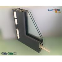 Wholesale Gray Color Double Layers Glass Aluminium Window Profiles / Combined Windows from china suppliers