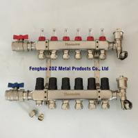China 6 Way Underfloor Heating Stainless Steel Water Manifold ,  Manifolds for Underfloor Heating/Cooling for sale