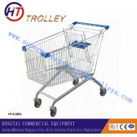 Wholesale Personal Basket Four Wheels Shopping Cart Steel Wire 180L 120 Kgs from china suppliers