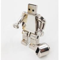 China Robot Cartoon USB Flash Drive 1G 2G 4G 8G Capacity Variable Silver Color on sale