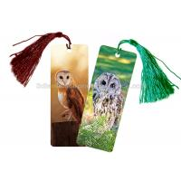 Wholesale Eco - Friendly Kids 3D Lenticular Custom Plastic Bookmarks With 0.6mm PET For Gift / Premium from china suppliers