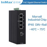 Buy cheap Full Gigabit 5 ports PoE Industrial grade Ethernet Switch support Wide temperature from wholesalers