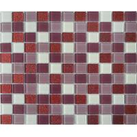 Wholesale Eco - Friendly Inside And Outside Wall Purple Glass Mosaic Tile With No Radiation from china suppliers