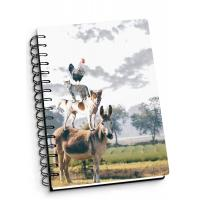 Wholesale Depth Effect A4 A5 A6 3d Lenticular Notebook With Spiral Binding For Student Stationery from china suppliers