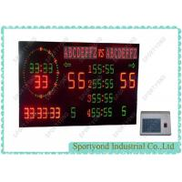 Buy cheap Gymnasium Electronic Basketball Scoreboards , Digits And Letters Scorer Display from Wholesalers