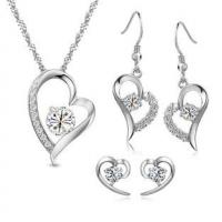 Wholesale 925 Silver Ladies Jewelry Sets Heart Shaped Bridal Jewelry Sets Design from china suppliers
