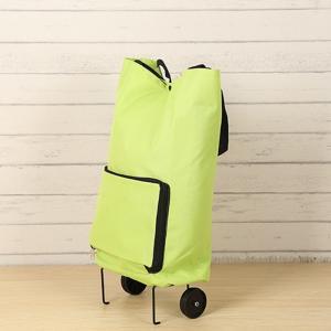 Market Foldable Reusable Shopping Bags 2 Wheels Luggage Vegetable Trolley Bag