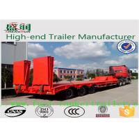 Buy cheap 50 Tones Tri - Axle Concave Type Low Bed Semi Trailer with ramps from wholesalers