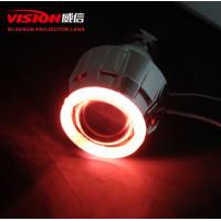 Wholesale Hid bi-xenon Lens CCFL angel eye single rings White/Red/Blue/Yellow/Green/Purpe Halo ring Hid xenon projector len from china suppliers