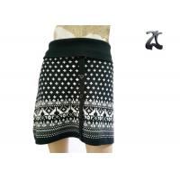 Wholesale Pure Acrylic Womens Knit Skirts Contrast Color with Button Front Fit Style from china suppliers