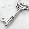 Metal key shape FOB pendant key chains, alloy key shaped drop pendant charming FOB keyring for sale
