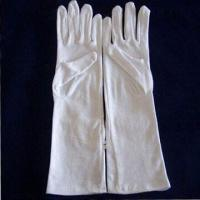 Wholesale Long White Cotton Gloves with 5017 Style, Measures 14-inch, Made of 100% Cotton from china suppliers