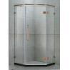 Green Bronze Frameless Shower Door Stainless Steel Hinged Freestanding Shower Enclosure for sale