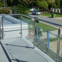 Wholesale Exterior Stainless Steel Frameless Glass Frosted Deck Railing / Glass Deck Post from china suppliers