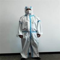 China Medical Protective Suit Disposable Coverall Isolation Medical Nonwoven Clothing on sale
