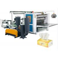 Wholesale Vacuum Tissue Paper Making Machine , V - Fold Facial Tissue Folding Machine from china suppliers