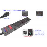 Wholesale American 10 Outlets Slim Plug Power Strip With Side Socket , Power Distribution Unit from china suppliers