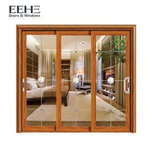 Space Saving Aluminum Frame Sliding Glass Doors For Residential Color Optional