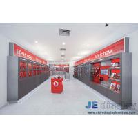 Buy cheap Electronic products Display wall cabinets in grey painting with Shelves and from wholesalers