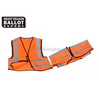 Wholesale Durable Industrial Reflective Vest With Zipper / High Visibility Motorcycle Vests from china suppliers