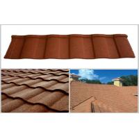 Wholesale Wave / Double Roman Roof Tiles / Aluminum - Zinc Coating Stone Chip Coated Steel Roofing Tile from china suppliers