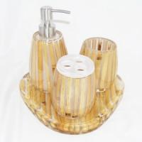 Wholesale 2012 New resin home daily use product 5pcs bathroom set from china suppliers