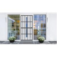 Quality Grey Tempered Glass Aluminium Sliding Security Doors Customized Shape for sale