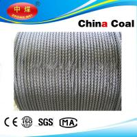 China Stainless, PVC Coated / galvanized, ungalvanized steel wire rope on sale
