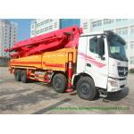 China Beiben V3 35m -51m Mini Concrete Pump Truck , Truck Mounted Concrete Pump for sale