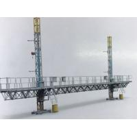 China STC100 Mast Climbing Work Platform Twin Tower 2400kg Load Capacity Steel With Dipping Zin for sale