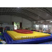 Wholesale Vinyl Material Castle Type Inflatable Football Court Bossaball For Children / Adult from china suppliers