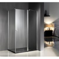 China 1200x800x6mm Clear Glass Shower Enclosures With Tray , Glass Bathroom Enclosures on sale