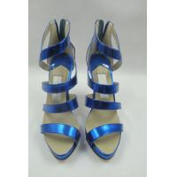 China Customize ASOS ladies patent leather  peep toe suspender high heels shoes&sandals on sale