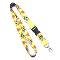 Wholesale Custom Printed Heat Transfer Lanyard Yellow Detachable , 20mm X 900 mm from china suppliers
