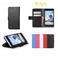Wholesale Huawei ascend P6 wallet purse leather case cover piel capa funda hulle coque Custodia from china suppliers
