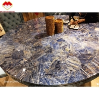 Wholesale Polished gemstone Amethyst faux marble panels for decoration wall slab from china suppliers