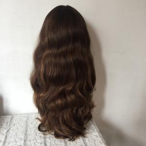 Factory price European human hair wig for white women