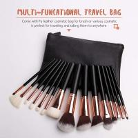 China OEM Luxury professional 15 pcs synthetic hair 3D full face makeup brush set for sale